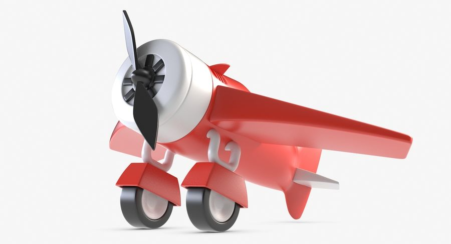 Toy Plane royalty-free 3d model - Preview no. 4