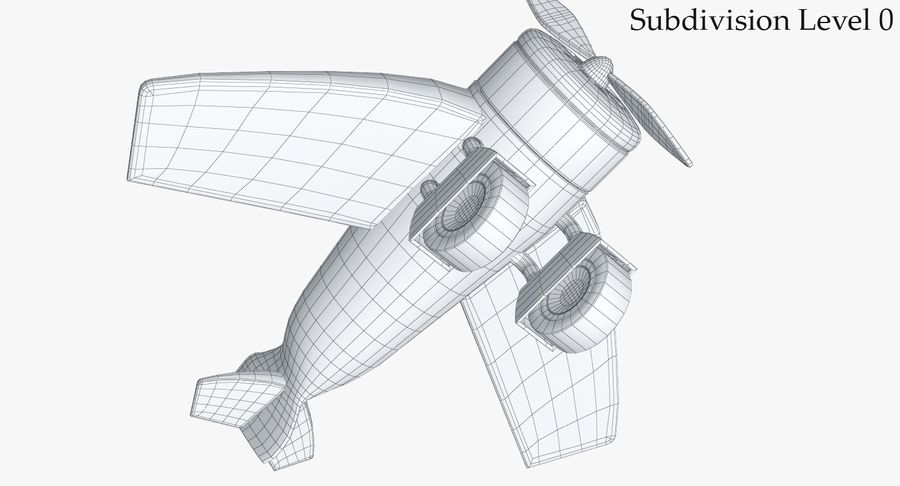 Toy Plane royalty-free 3d model - Preview no. 17