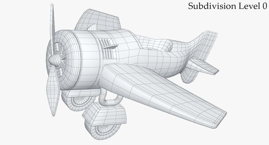 Toy Plane royalty-free 3d model - Preview no. 19