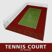 Quadra de tênis 3d model