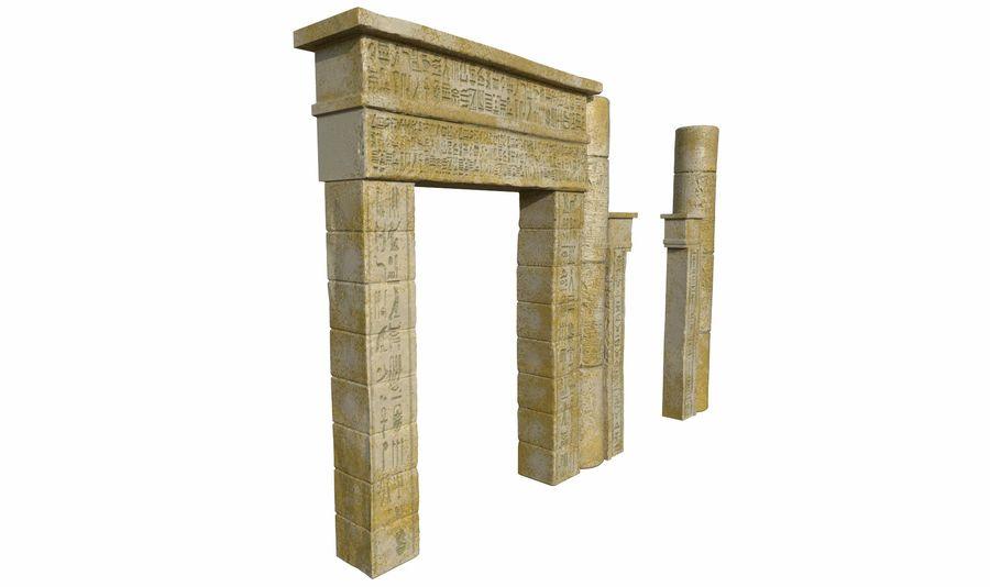 templo egipcio royalty-free modelo 3d - Preview no. 3