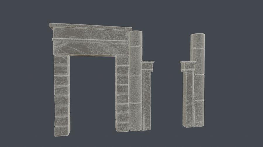 templo egipcio royalty-free modelo 3d - Preview no. 5