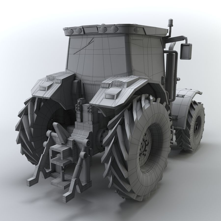 Tractor royalty-free 3d model - Preview no. 7