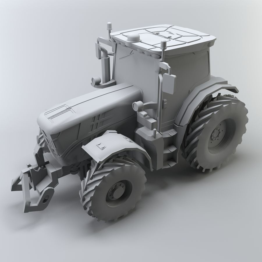Tractor royalty-free 3d model - Preview no. 9