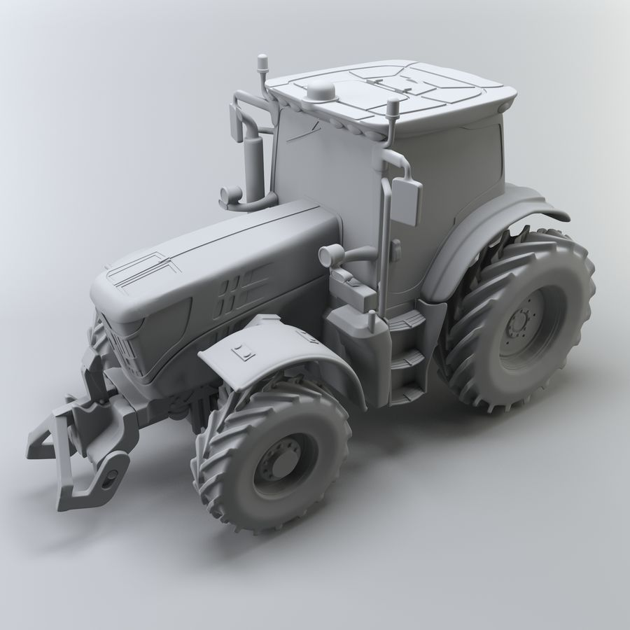 Tractor royalty-free 3d model - Preview no. 8