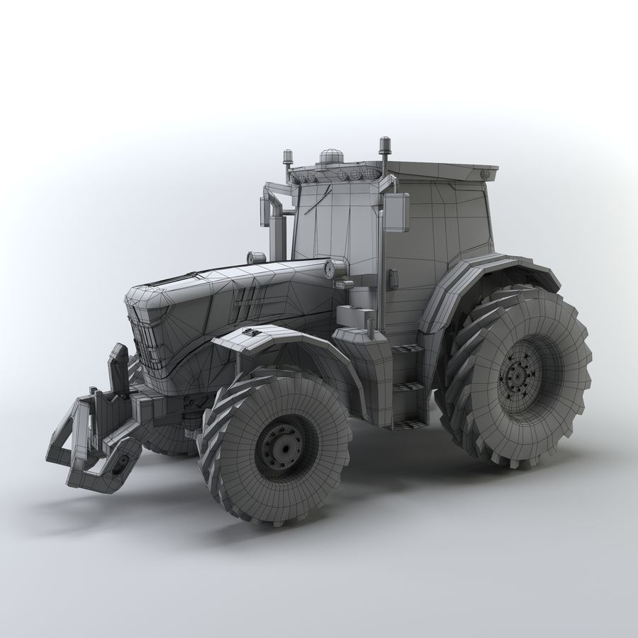 Tractor royalty-free 3d model - Preview no. 3