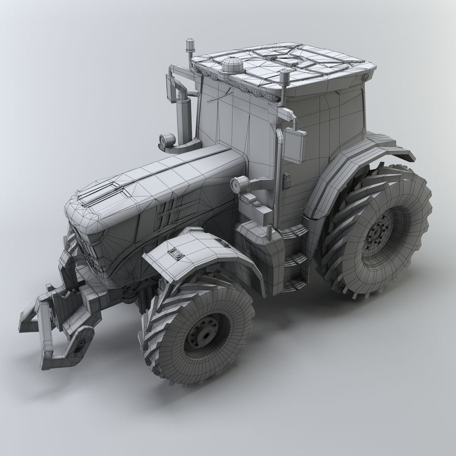 Tractor royalty-free 3d model - Preview no. 10
