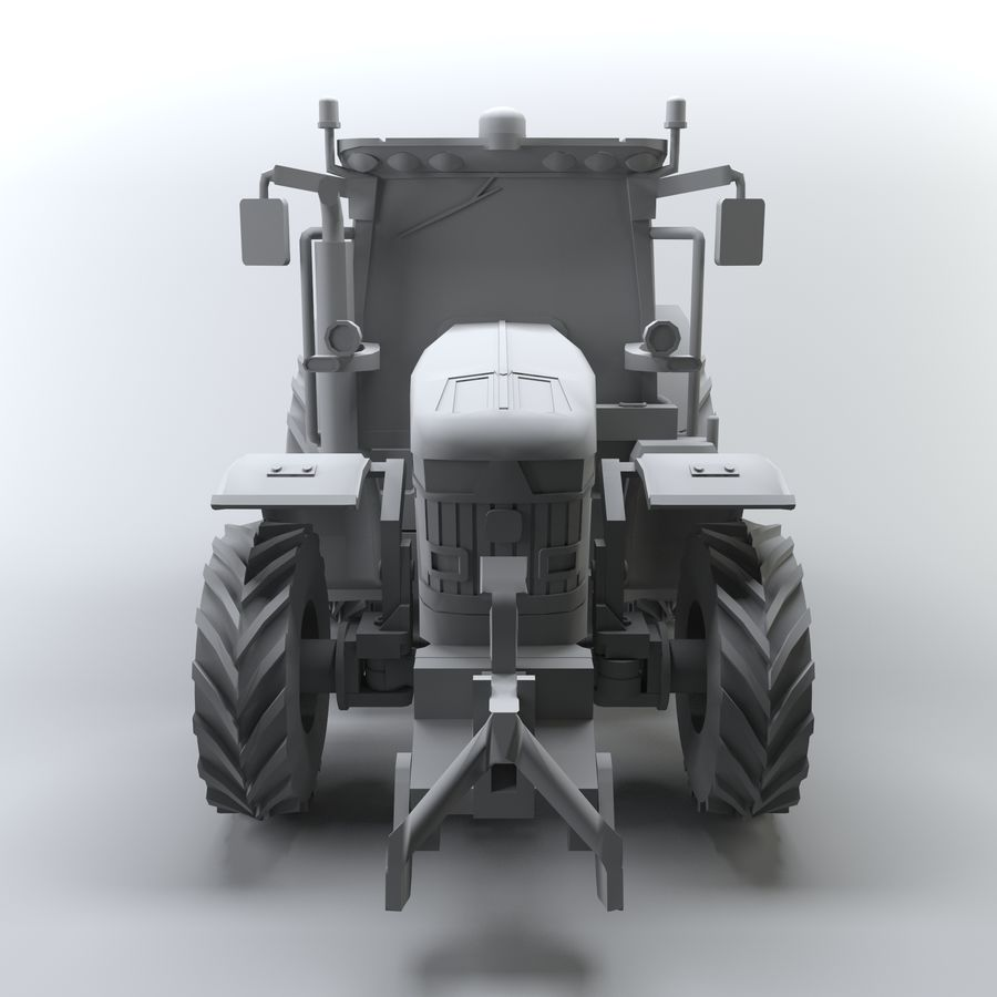 Tractor royalty-free 3d model - Preview no. 4