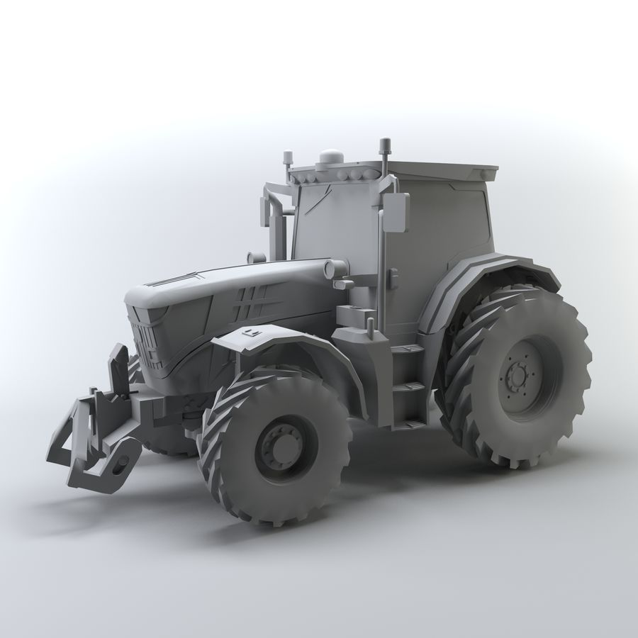 Tractor royalty-free 3d model - Preview no. 2