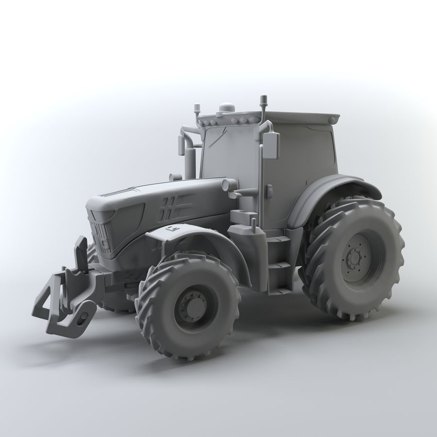 Tractor royalty-free 3d model - Preview no. 1
