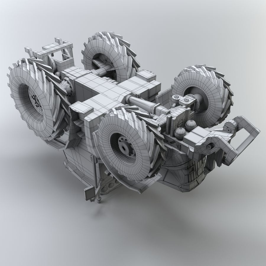 Tractor royalty-free 3d model - Preview no. 12
