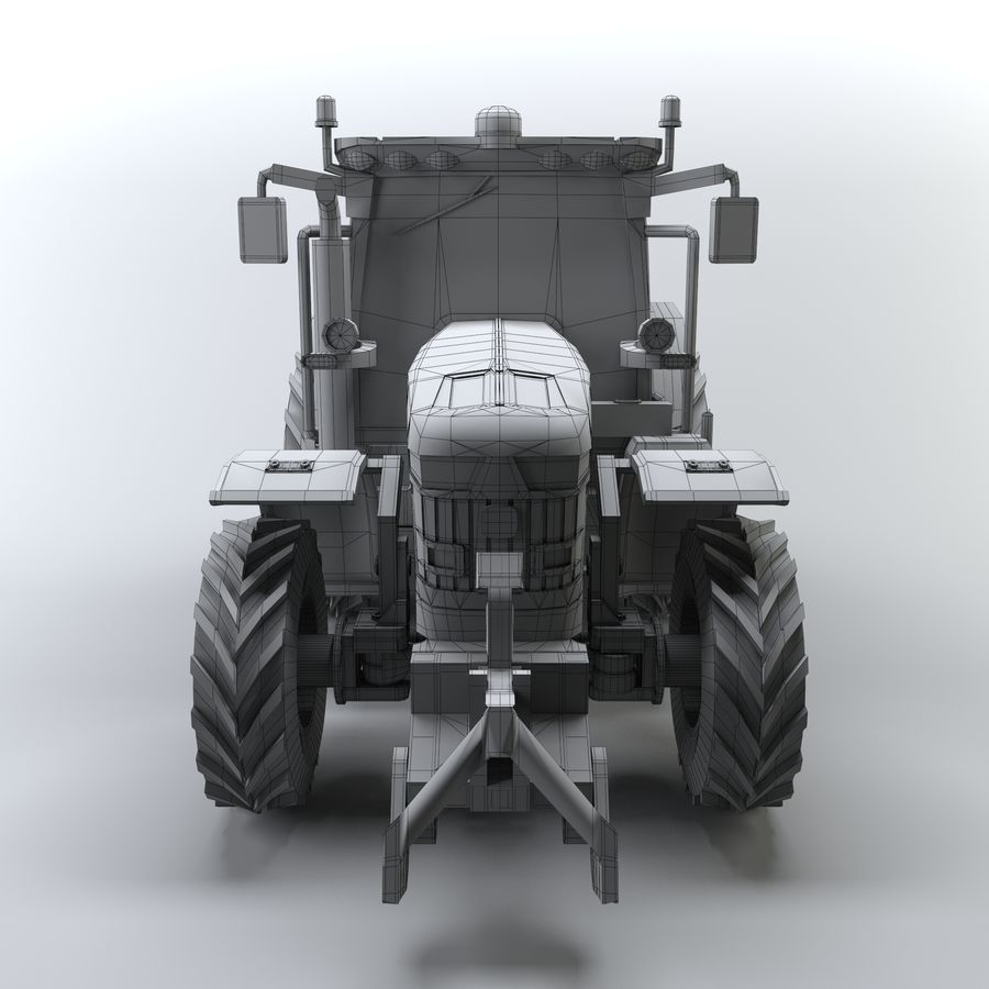 Tractor royalty-free 3d model - Preview no. 5