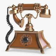 Téléphone rétro 3d model