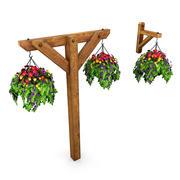鉢植えの植物6 3d model