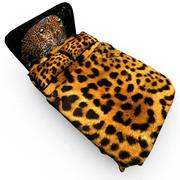 Cama leopardo 3d model