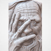 Old Man face CNC relief 3d model
