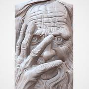 Old Man face relief en CNC 3d model