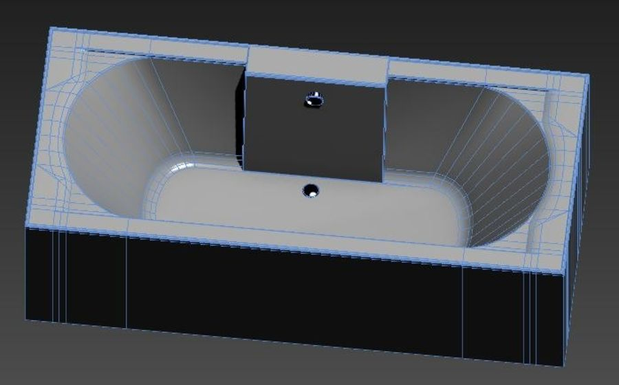 Bath 65 royalty-free 3d model - Preview no. 3