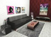 Set Modern Design Möbel 3d model