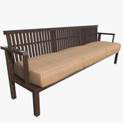 Trä soffa 3d model