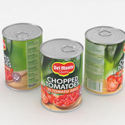 Del Monte Chopped Tomatoes Food Can 400g 3d model