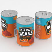 Heinz Beanz Barbecue Food Can 390g 3d model