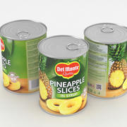 Del Monte Pineapple Slices Food Can 570g 3d model