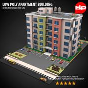 Низкополигональный жилой дом 3d model