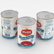 Petti Il Polposissimo番茄番茄罐头400g 3d model