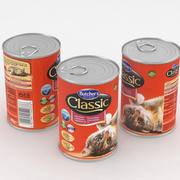 Butchers Classic with Game Cat Food Can 400g 3d model