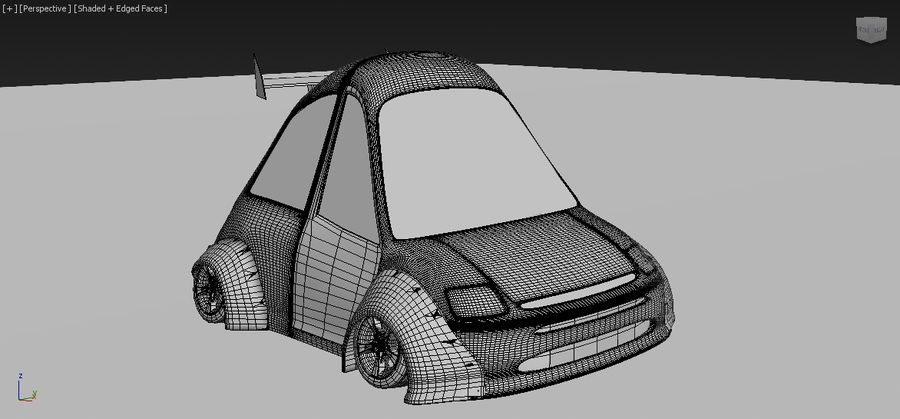toon car royalty-free 3d model - Preview no. 8