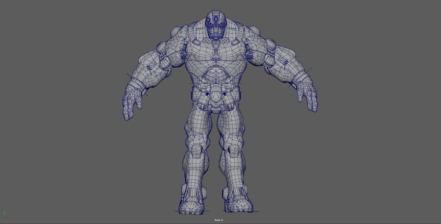 Mecha Robot karakter royalty-free 3d model - Preview no. 11