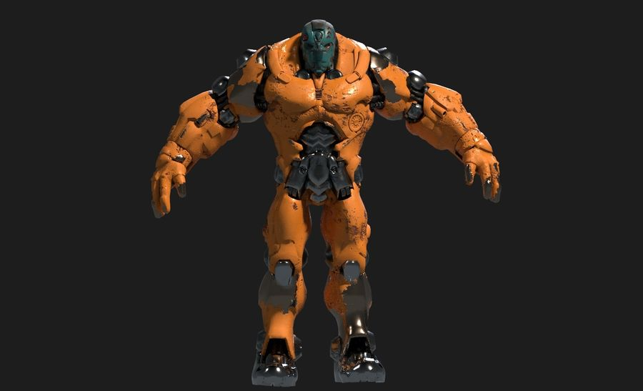 Mecha Robot karakter royalty-free 3d model - Preview no. 2