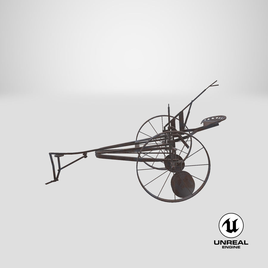 Alter Pferd gezeichneter Pflug royalty-free 3d model - Preview no. 21
