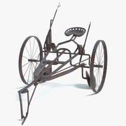 Old Horse Drawn Plow 3d model