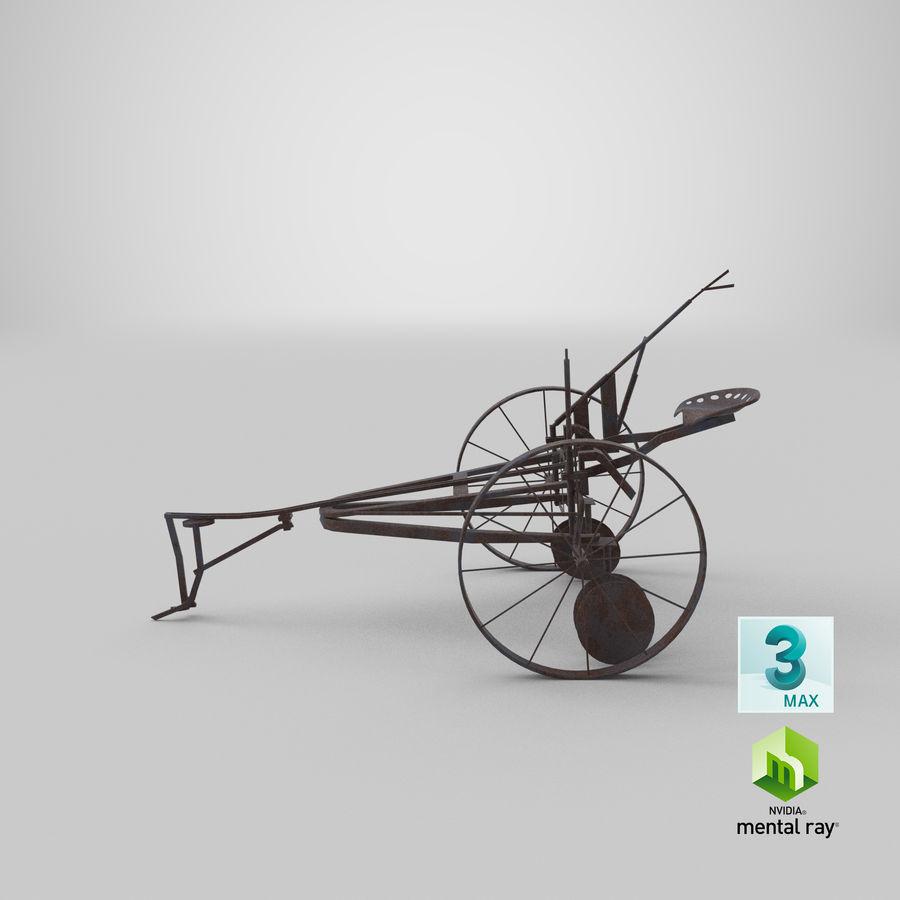 Alter Pferd gezeichneter Pflug royalty-free 3d model - Preview no. 19