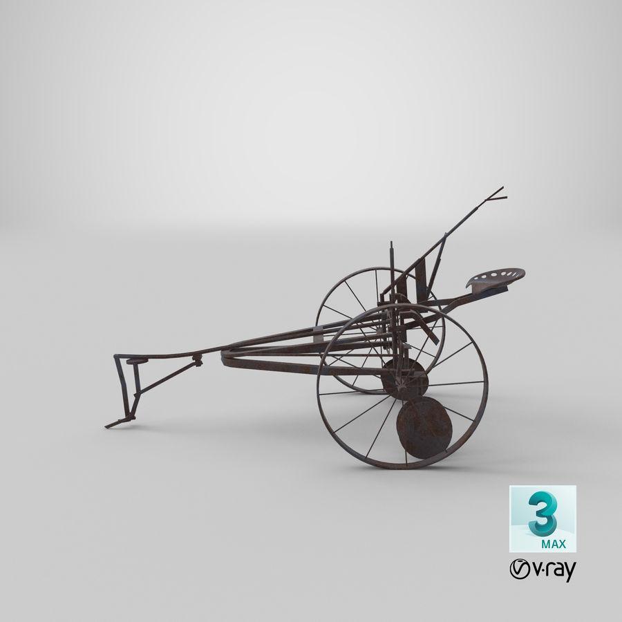 Alter Pferd gezeichneter Pflug royalty-free 3d model - Preview no. 18