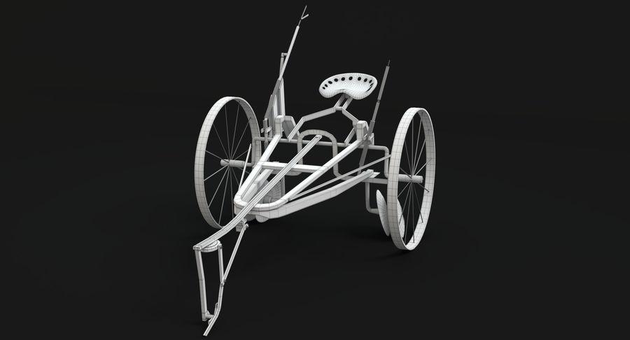 Alter Pferd gezeichneter Pflug royalty-free 3d model - Preview no. 13