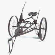 Alter Pferd gezeichneter Pflug 3d model