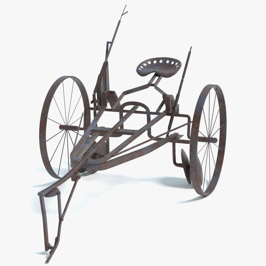 Alter Pferd gezeichneter Pflug royalty-free 3d model - Preview no. 1