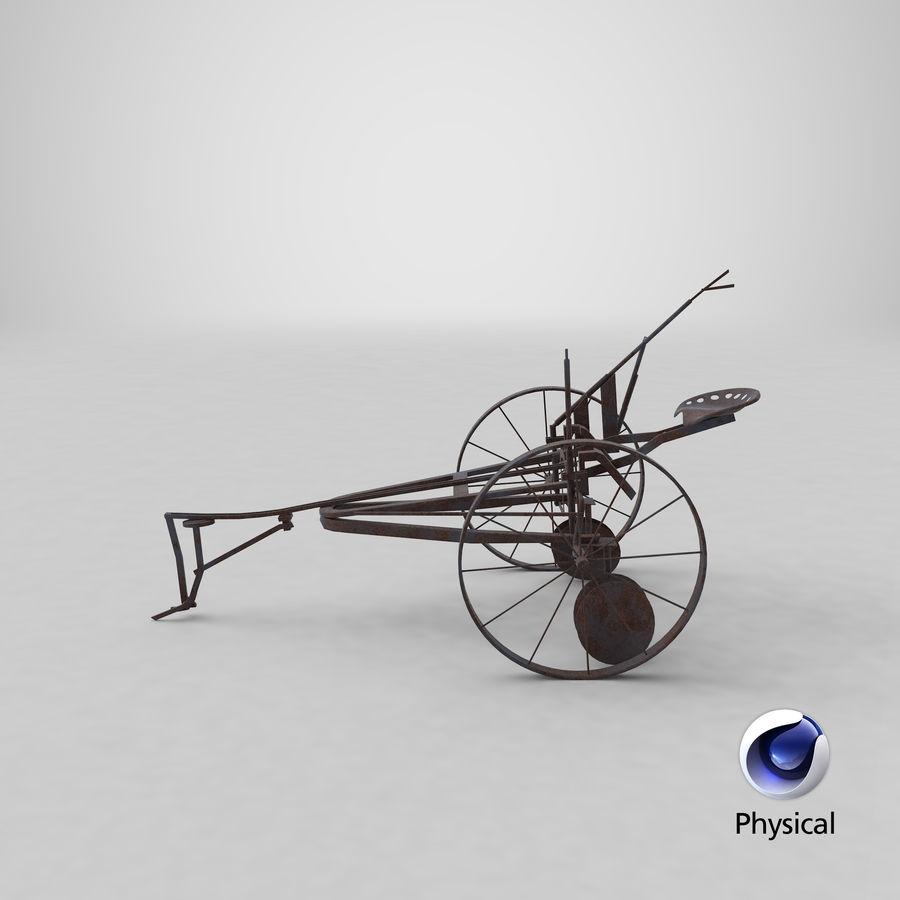 Alter Pferd gezeichneter Pflug royalty-free 3d model - Preview no. 20