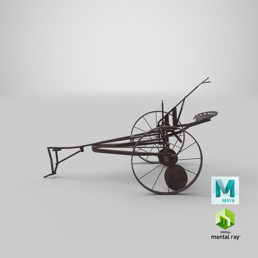 Alter Pferd gezeichneter Pflug royalty-free 3d model - Preview no. 17
