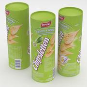 Lorenz Chipsletten Green Onion och Chive 100g 3d model