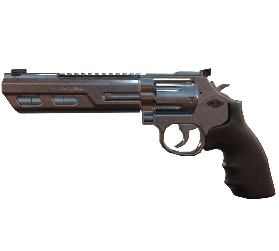 357 Magnum royalty-free modelo 3d - Preview no. 4