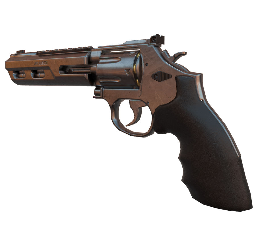 357 Magnum royalty-free modelo 3d - Preview no. 2