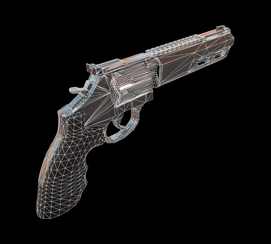 357 Magnum royalty-free modelo 3d - Preview no. 9