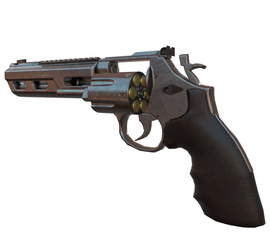 357 Magnum royalty-free modelo 3d - Preview no. 6