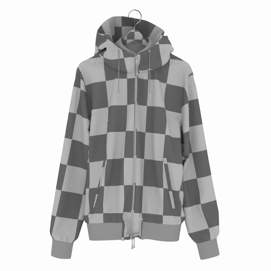 Куртка Спорт royalty-free 3d model - Preview no. 31