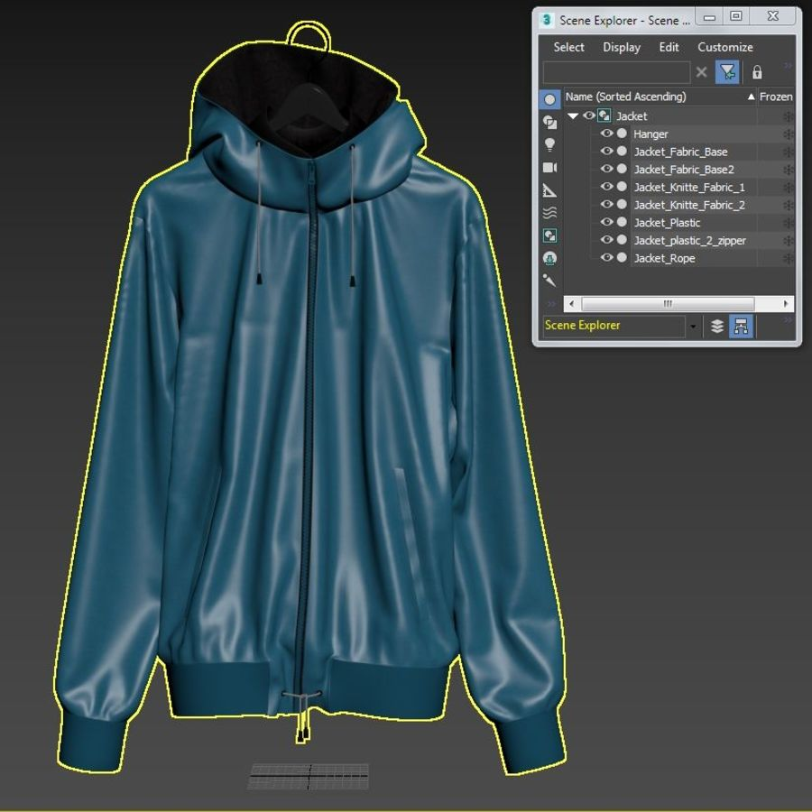 Куртка Спорт royalty-free 3d model - Preview no. 29