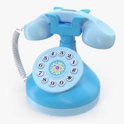 Kids Musical Phone Blue 3D Model 3d model